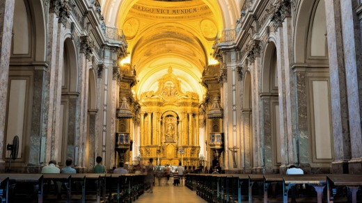 Buenos Aires Metropolitan Cathedral is the main Catholic church in the city.