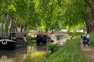 Along the Canal Du Midi in Toulouse, France.
