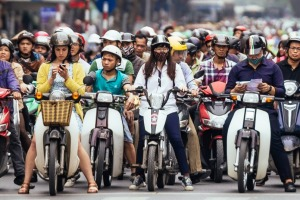 Another day, another traffic jam in Hanoi.