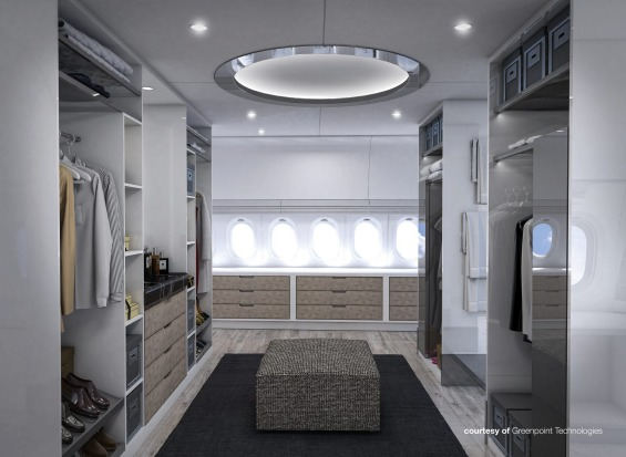 Greenpoint Technologies' design for the master suite on board.