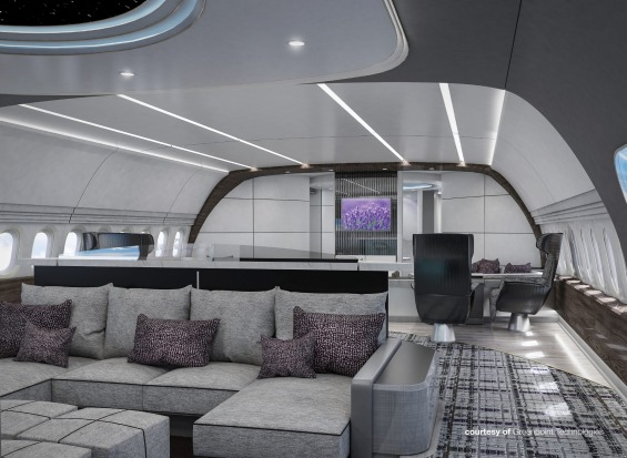 Greenpoint Technologies' design for the lounge on board.