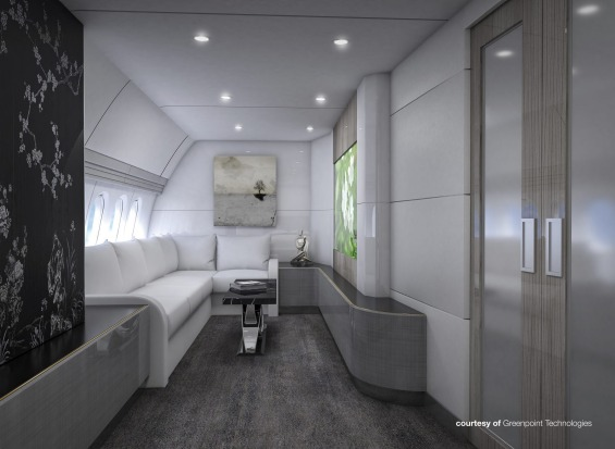 Greenpoint Technologies' design for a guest room on board.
