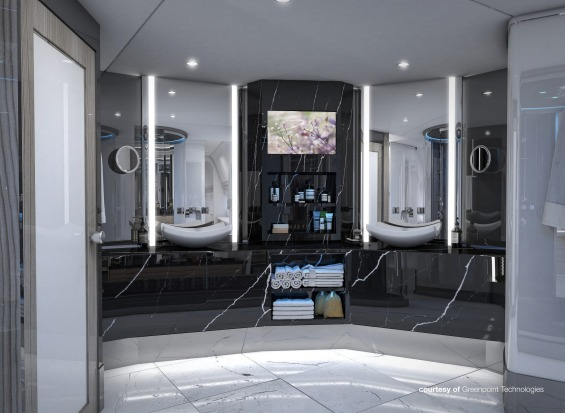 Greenpoint Technologies' design for a main bathroom on board.
