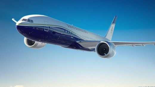 The Boeing 777x (pictured) and the Airbus A350 are the two planes being considered for Qantas' Project Sunrise.