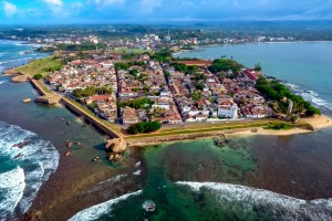 The walled city of Galle is recognised for its mixture of Asian and colonial European architecture.