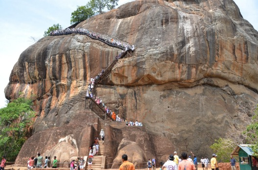 SIGIRIYA ROCK FORTRESS: As impressive as Cambodia's Angkor temples and the ancient Inca city Machu Picchu in Peru, the ...