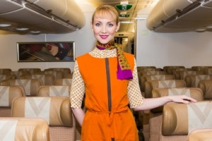 A ''Flying Nanny'' on board one of Etihad's A380s.
