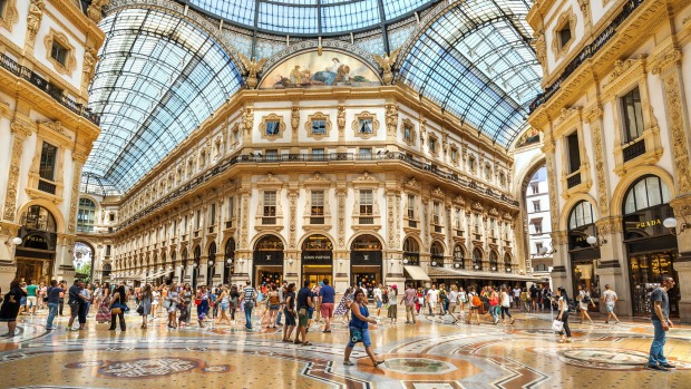 Galleria Vittorio Emanuele II is a shopping mall housed in a 19th-century arcade and is awash with luxury brands.