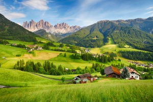 Mountain Val di Funes, some of the stupendous scenery Italy has to offer.