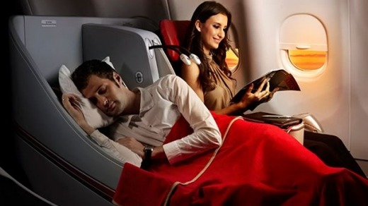 Business class seats for economy prices.
