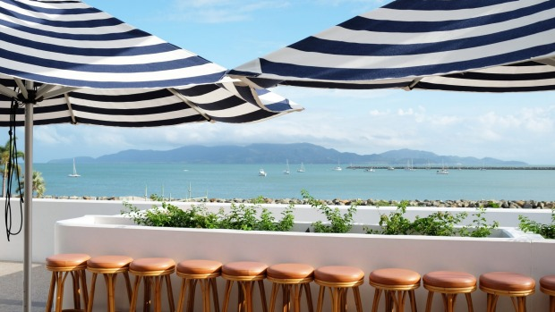 Views over to Magnetic Island from Quarterdeck bar and restaurant.