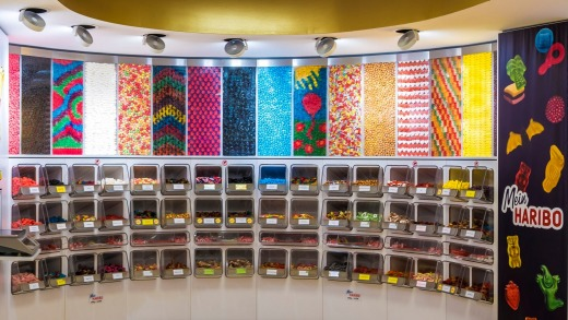 Take your pick ... the Haribo store offers an array of colourful sweets.
