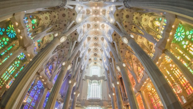 Staning alone in the middle of Barcelona's Sagrada Familia is a magical experience.