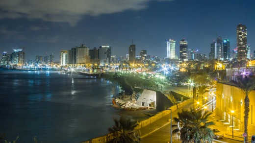 Nightlife of Tel Aviv.