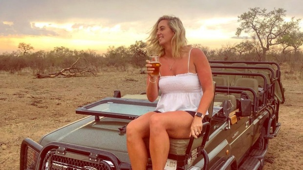 Sundowners on safari.