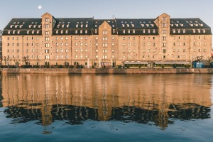 Admiral Hotel, Copenhagen, has a fabulous waterfront setting by the city's inner harbour.