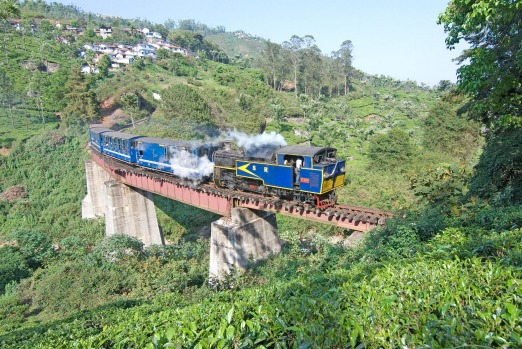 NILGIRI MOUNTAIN RAILWAY, INDIA: Built in 1908 and still operating its original fleet of steam locomotives, this rack ...