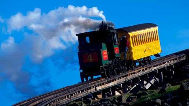 MT WASHINGTON COG RAILWAY, US: This railway in New Hampshire was the world's first mountain cog railway and is still ...