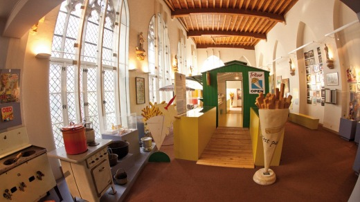 The Frietmuseum, a museum in Bruges, dedicated to showcasing the history of potatoes and the production of Belgian fries.