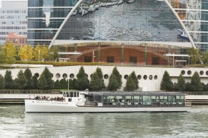 The Odyssey Chicago River has a glass roof, all the better for viewing the city's famous skyline.