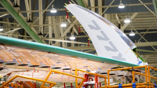 When the 3.4-metre-long tips are unfolded for flight, it has a wingspan of 72 metres. That makes it longer and with a ...