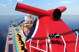BOLT: Ultimate Sea Coaster on board the Carnival Mardi Gras will be the first roller coaster at sea.