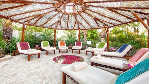 The relaxation area at Las Ventanas al Paraiso.