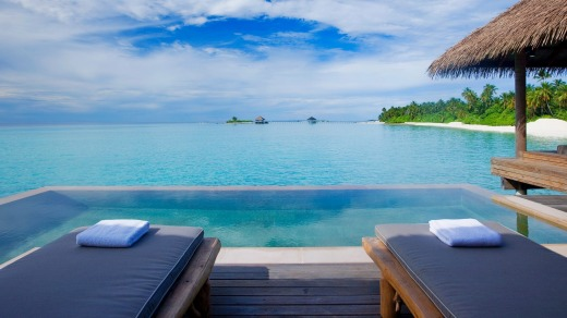 Views from the infinity pool.