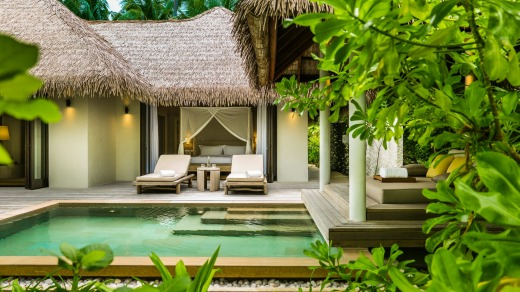 Beach villa at Como Maalifushi.