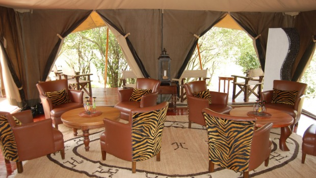 Enjoy the luxury of an elegant tented room in the Masai Mara with Bench Africa.