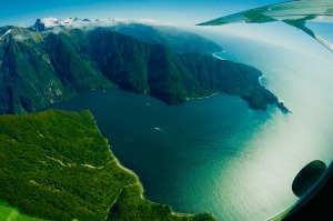 Milford Sound, New Zealand aerial