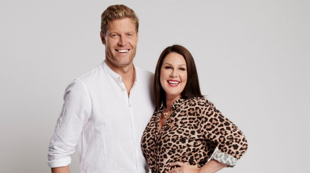 "Dr Chris Brown and Julia Morris, hosts of ""I'm A Celebrity ... Get Me Out Of Here!"""