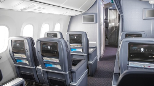 Premium Economy Cabin on new American Airlines 787.