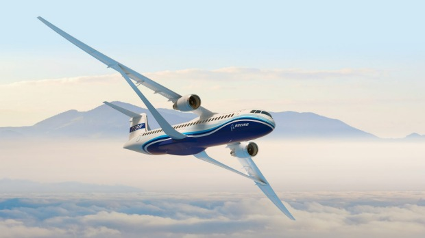 Boeing's Transonic Truss-Braced Wing could fly at speeds of up to 965 km per hour, while greatly reducing fuel use.