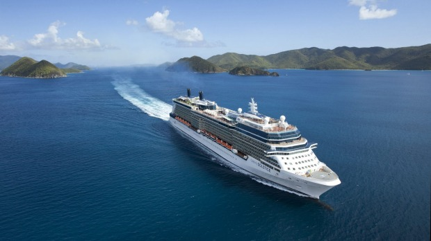 Celebrity Solstice in New Zealand.