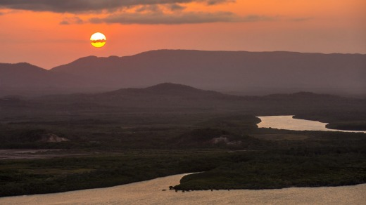 Sunset over the Endeavour River, Cooktown.