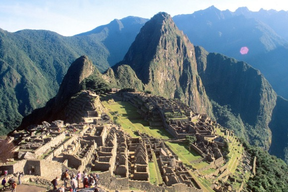 Lost Inca city of Machu Picchu.
