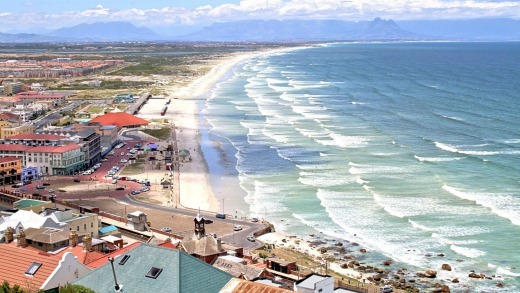 Muizenberg Cape Peninsula from Boye's Drive.