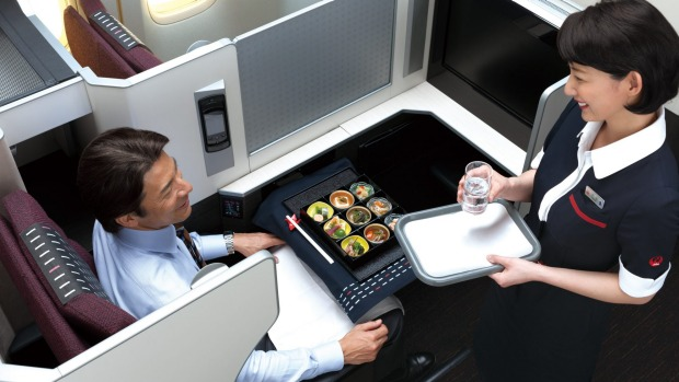 Japan Airlines' business class food is a highlight.