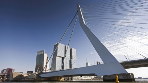 The Erasmus Bridge is among some of the stunning architecture to be seen in Rotterdam.