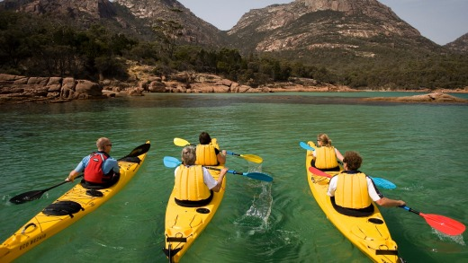 Paddle in Freycinet National Park.