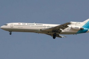 The Boeing 727 was operated by Iran Aseman Airlines.