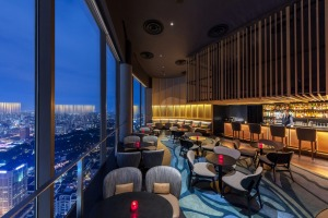 SKAI bar at Swissotel The Stanford offers stunning city views.