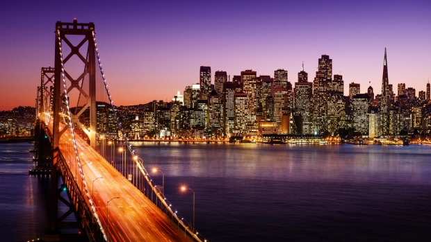 San Francisco from the Bay Bridge.