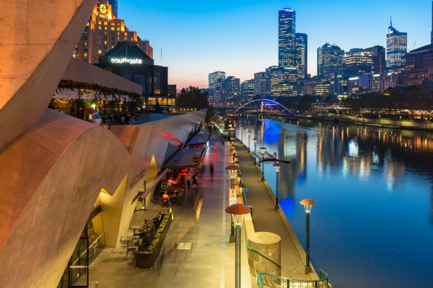 Southbank, Melbourne: The money's there, the Crown casino's there, and the ostentatious flame towers are there. But ...
