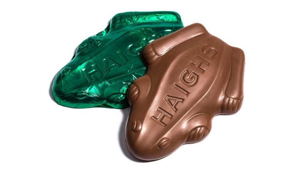 Haigh's famous chocolate frogs.