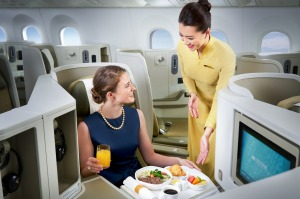 <i>Business Class on Vietnam Airlines</i>