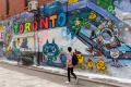 Toronto's Queen Street West neighbourhood graffiti tour.