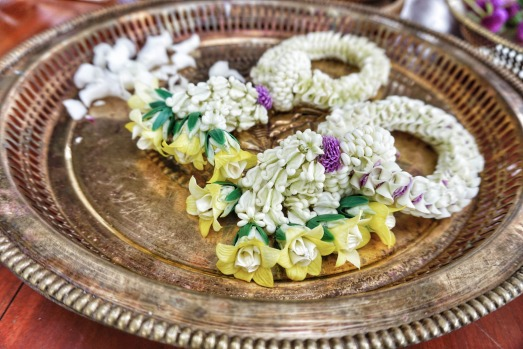 MAKING FLORAL TEMPLE OFFERINGS: Turning Thailand's beautiful tropical flowers into delicate works of art is an age-old ...
