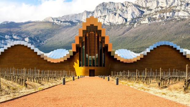 The futuristic modern winery Ysios in La Guardia, Spain.